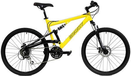 2018 Gravity FSX 1.0 Dual Full Suspension Mountain Bike