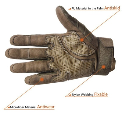 FREETOO Tactical Gloves back